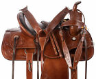 Western Horse Saddle Brown Tooled Pleasure Trail Barrel Show Leather Horse Tack