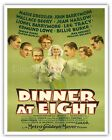 Dinner at Eight - Jean Harlow - 1933 Vintage Film Movie Poster Fine Art Print