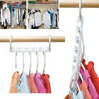 New Plastic Magic Hanger Wardrobe Closet Bar Clothes Coat Organizer Space Saver
