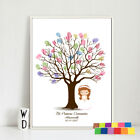 DIY Fingerprint Tree Decoration Signature Canvas Painting Gift  for Baby Shower