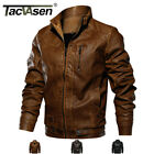TACVASEN Mens Tactical PU Leather Jacket Bomber Motorcycle Biker Jackets Outwear