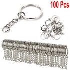 Kyпить 100x DIY 25mm Polished Silver Keyring Keychain Split Ring Short Chain Key Rings на еВаy.соm