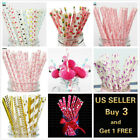 Внешний вид - 25Pcs Paper Straws Flamingo Birthday Wedding Party Baby Shower
