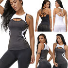 women sexy yoga top tank vest padded