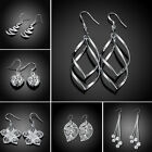 Women Gift Various 925 Sterling Silver Stamped Dangle Earrings Fashion Jewelry