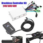 250/350W Electric Bicycle Scooter Brushless Controller Kit Ebike LED Display New