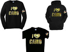 Mossy Oak I Love Camo T'shirt Long Sleeve Tees Hoodies