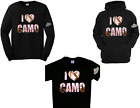 Mossy Oak I Love Camo Pink T'shirt Long Sleeve Tees Hoodies