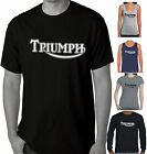 TRIUMPH Classic Logo Motorcycle T-Shirts Singlets Bike Chopper tee Funny t shirt $19.97 AUD on eBay