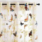Butterfly Curtains Tulle Window Curtain for Living Room Bedroom Kitchen Curtains