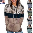 Womens Button Loose Knit Tunic Blouse Tops Casual Long Sleeve Shirts Pullover US