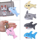 Charm Mini Shark Soft Animal Plush Toys Key Chain Ring Phone Bag Pendant