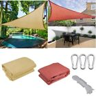 11.5' Sun Shade Sail Patio Deck Beach Garden Yard Outdoor Canopy Cover UV Block