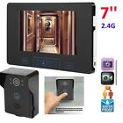 "7"" inch Wireless Car Video Doorbell Intercom 2.4GHz Digital Door Phone System"