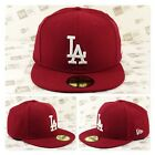 Los Angeles DODGERS Custom Color Fitted Cap (Burgandy) on Ebay