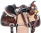 Beautiful Western Barrel Racing Saddle Pleasure Trail Show Leather Horse Tack