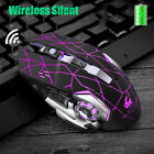 LED Backlit Wireless Mouse Gaming Mice Rechargeable For PC Laptop LOL DOTA CS