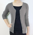 3/4 Sleeve Cardigan Sweater V-Neck Button Vintage Fitted Loose Knit & Plus Size
