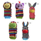 Multi shape Soft Toy Animal Baby Infant Kid Hand Wrist Bells Foot Sock Rattle JH