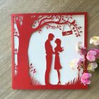 100pcs Greeting Postcards Gift Cards Custom Laser Cut Heart Blank Vintage weddin