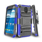 For Samsung Galaxy S5 S6 Rugged w/ Belt Clip Armor Hybrid Shockproof Case Cover