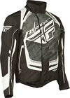 Fly Racing SNX Pro Black/White Waterproof & Insulated Snowmobile Jacket