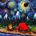 Used, Camping Wall Art Print van Gogh Starry Night Home Decor outdoors artwork by Aja for sale  Shipping to Canada