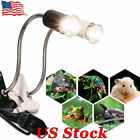 Reptile Ceramic UVB/UVA Bulb Aquarium Lighting E27 Base Lamp Clip Lizard