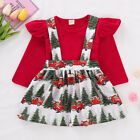 UK Baby Girls Christmas Strap Dress Ladies Princess Party Dresses Clothes Outfit