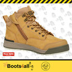 New Hard Yakka LACE ZIP BOOT Lace Up Safety Steel Toe Zip Sided 3056 - Wheat