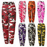 Womens Military Army Combat Camouflage Pant LOT Camo Cargo Trousers Casual Pants