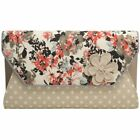 New Womens Ruby Shoo Natural Naples Polyester Handbag Clutch Bags
