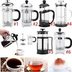 350/800/1000ml Stainless Steel Glass Tea Coffee Cup french Plunger Press Maker