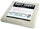 Cotton Twill Dust Sheets Various Sizes DIY Builder Decorating Cover <br/> ** 3pk £23.38 * 5 pk £34.96* Free Delivery**