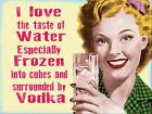 Funny Retro Vodka METAL SIGN 2 Sizes Available ideal for bar, Man Cave