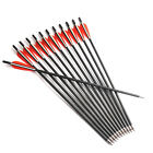 Mixed Carbon Arrows 6/12pcs 17/20 in. Archery Shooting Hunting Target SportingBowhunting - 159037