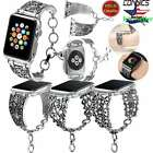38/42mm iWatch Vintage Chain Strap Band For Apple Watch Series 3-1 Silver Women  image