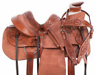 Ranch Wade Tree Western Horse Trail Rough Out Leather Saddle Tack 15 18