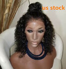 Fast shipping Lace Front Real Human Hair Wigs Brazilian curly Lace Wig