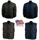 Game Sportswear Firefighter Black Quilted Classic Jacket 1221-J Coat Police Vest
