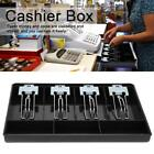 Cash Coin Register Insert Tray Replacement Cashier Four Box with Metal Clip