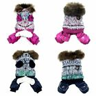 Dog Pet Outfits Jumpsuit Clothes Puppy Winter Warm Pajamas Christmas Costume