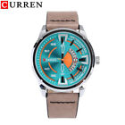 CURREN Business Casual Men Wristwatch Calendar Leather Strap Round Dial Watches