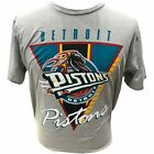 Detroit Pistons Retro Vintage Logo Throwback Colorway Gray T-Shirt on eBay