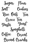 Tea Coffee Sugar Sheet Font 2 Jar Cannister Vinyl Stickers Labels Only