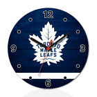 Toronto Maple Leafs Wood Wall Clock Home Office Room Decor Gift Round