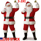 5PCS Santa Claus Costume Men Adult Suit Christmas Party Outfit Fancy Xmas Dress