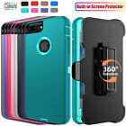 For iPhone 8 /8 Plus Case With Built in Screen Protector Belt Clip Holster Cover