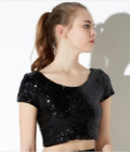 Haoduoyi Sequin Crop Top NWT