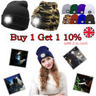 Unisex Beanies 4LED Head Light Torch Knitted Hat Cap Camping Running Xmas Gifts